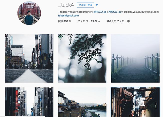 Takashi Yasui氏のInstagramのアカウント